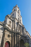 San Francisco church and its adjacent square in Old Havana, a famous touristic landmark on the colonial city