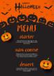 Halloween menu design