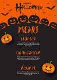 Halloween menu design - 223848150