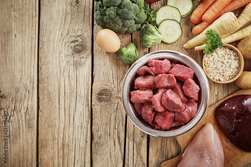 Fresh ingredients for a healthy dog diet - 223866102