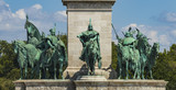 sculptures around the monument on the Heroes' Square, Budapest, Hungary - 223872373