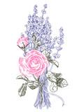 Lavender Bouqet & Rose - 223885551