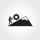 Persistence icon. Monochrome element illustration. Persistence symbol design from soft skills collection. Web design, apps, software and print usage. - 223887534
