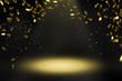 Leinwanddruck Bild - konfettiregen scheinwerferlicht bühne