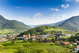 Scenic View into the Wachau with the river Danube. Spitz. Austria. - 223894106