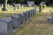 Mount Olivet cemetery in summer, titanic graves, Halifax, history.