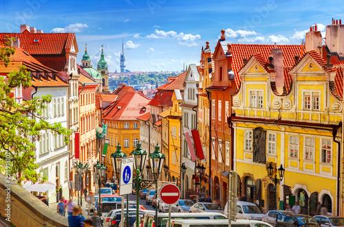 Leinwanddruck Bild Old Prague street