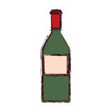 wine bottle drink alcohol icon - 223937592