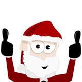 Weihnachtsmann mit Daumen hoch - 223949382