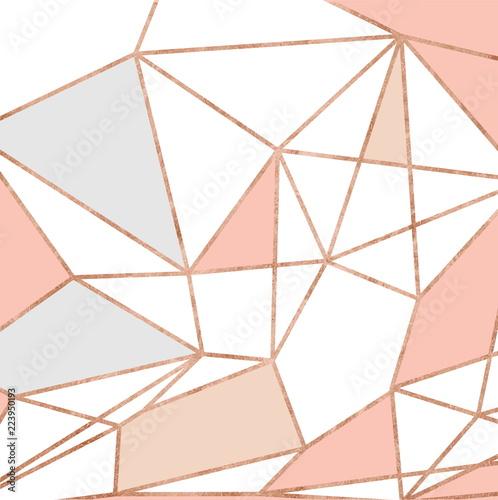 wzor-geometryczny-zloto-i-roza-rozowy-brokat