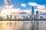 Shenzhen Houhai CBD skyline at dusk - 223958521