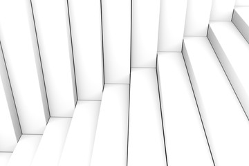 Black and white abstract background stairs box 3d illustration © profit_image