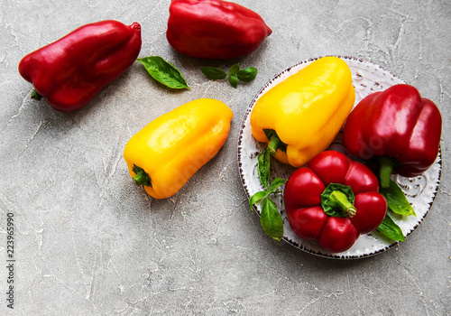 Bell peppers on a concrete background - 223965990