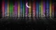 Night city, neon light. - 223967343