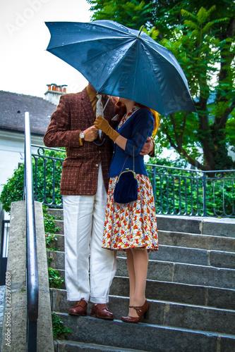 couple à Montmatre