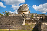 Mexico, Cancun - February 15, 2018: Chichen Itzá, Yucatán. Ruins of ancient observatory