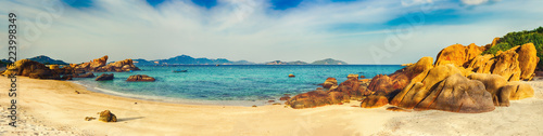 White sand beach. Vietnam. Panorama - 223998349