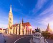 Leinwanddruck Bild - Matthias Church by morning light