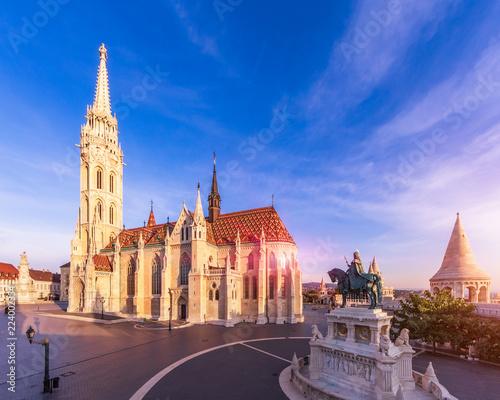 Leinwanddruck Bild Matthias Church by morning light
