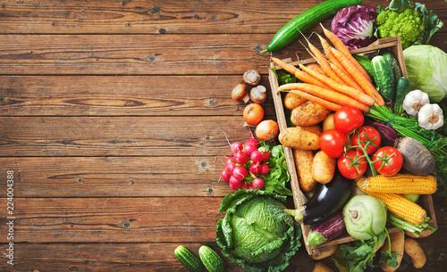 Leinwandbild Motiv Assortment of fresh vegetables