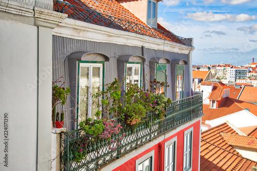 Lisbon, Colorful Alfama streets © skylarkstudio