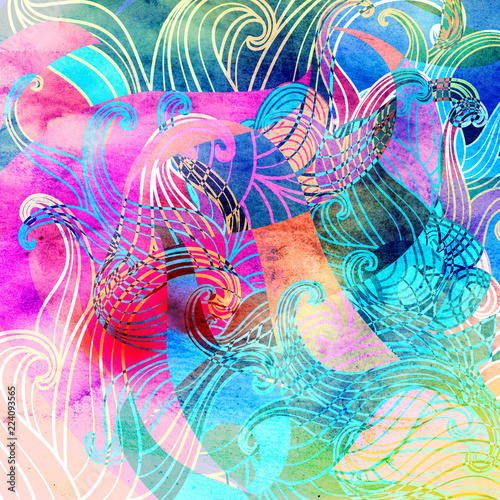 Abstract colored background - 224093565