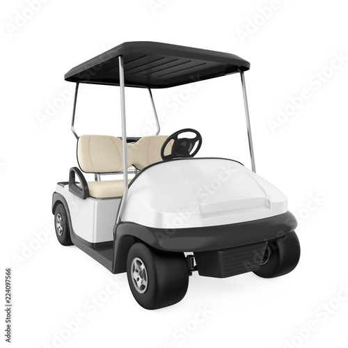 Golf Cart Isolated - 224097566