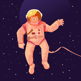 Astronaut floating in space - 224103700