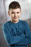 Portrait of cool schoolboy - 224106980
