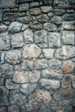 old stone wall background texture - 224110953