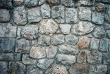 old stone wall background texture - 224110954