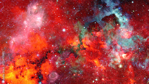 Nebula and stars in outer space. Elements of this image furnished by NASA. - 224110985
