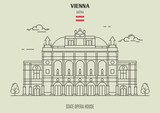 State Opera Housel in Vienna, Austria. Landmark icon - 224111597