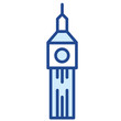 Big Ben, London / Grioßbrittanien Vector Icon Illustration
