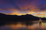 Spectacular twilight in St. Wolfgang im Salzkammergut on the northern shore of Lake Wolfgang , Austria - 224113938