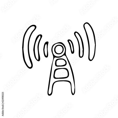 grafika obrazy na p tnie fototapety na wymiar obrazy na cian Na Atom zdj cia na p tnie fototapety obrazy hand drawn antenna doodle icon hand drawn