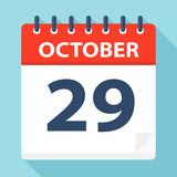 October 29 - Calendar Icon - 224122904