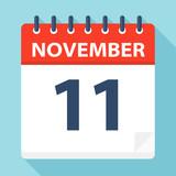 November 11 - Calendar Icon - 224123349