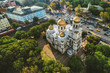 Leinwandbild Motiv The Cathedral of the Assumption in Varna, Aerial view