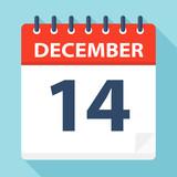 December 14 - Calendar Icon - 224124582