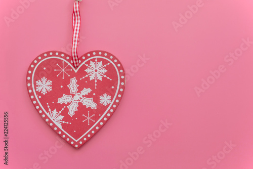 Christmas decoration on a pink background - 224125556
