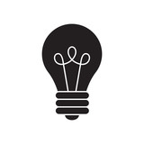 Light Bulb line icon vector, isolated on white background. Idea sign, solution, thinking concept. - 224135917