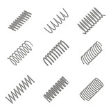 set of monochrome icons with Springs for your design - 224159163