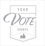 Your vote counts modern stamp message design - 224160950