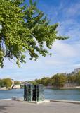 Jardin Tino Rossi an der Seine in Paris