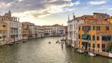 Venice Italy, panorama city skyline at Grand Canal