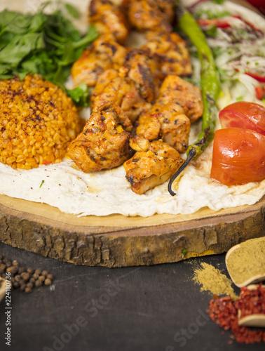 Chicken Shish Kebab Turkish Tavuk Sis Traditional Turkish Food Buy