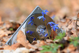 broken computer hard disk in forest - 224183364