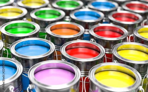3D ilustracja kolorowi kolory