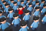 3D Illustration Menschenmenge Jubel - 224184557